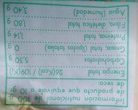 Cebolla deshidratada - Informations nutritionnelles - es