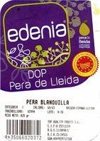"Peras ""Edenia"" Origen Lérida - Ingredientes"