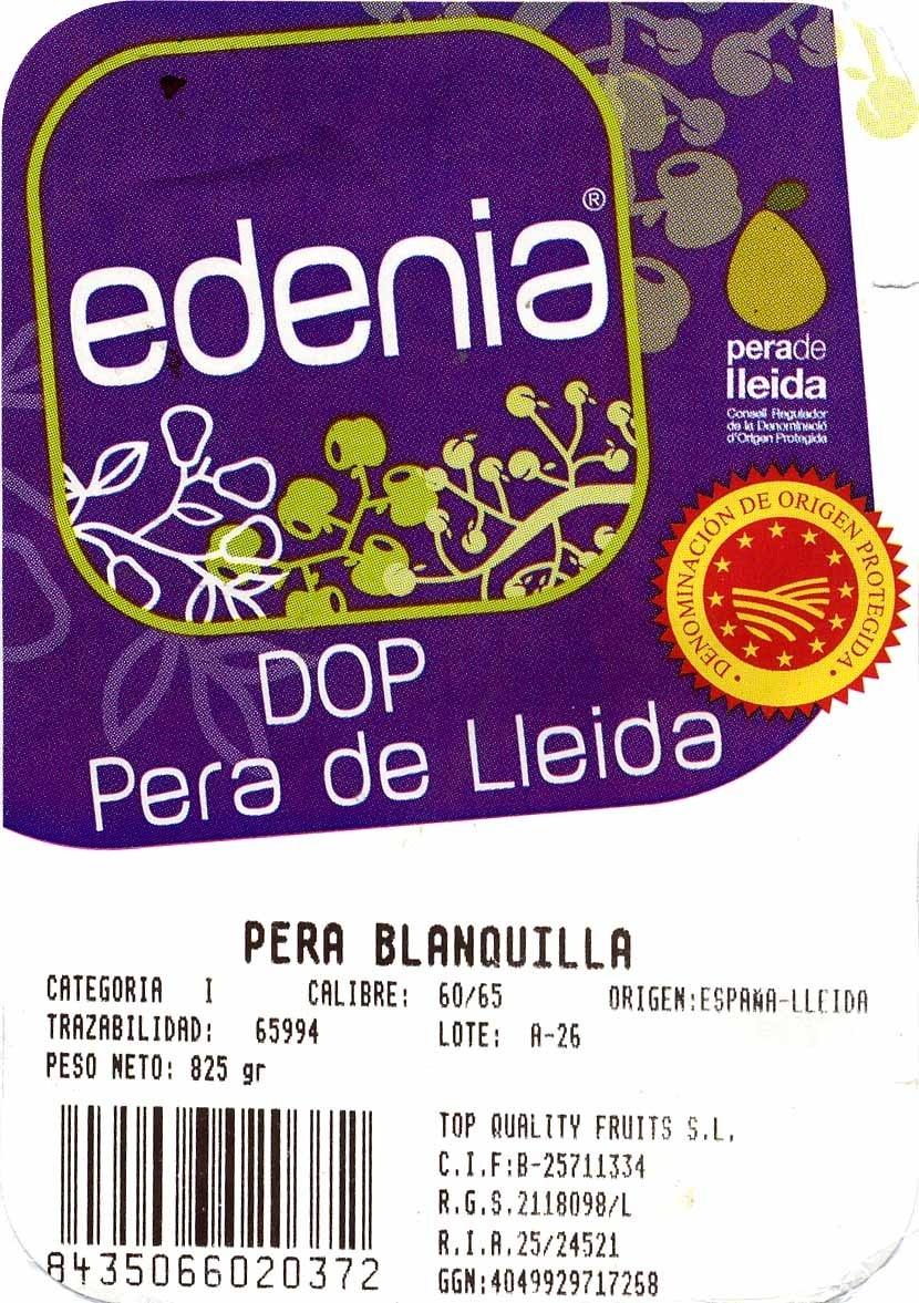Pera DOP Lleida - Ingredientes - es