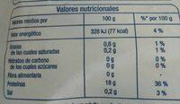 Filetes de merluza del cabo - Informations nutritionnelles - es
