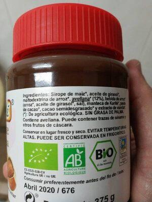 Crema para untar Cacao con Avellana - Ingredienti - es