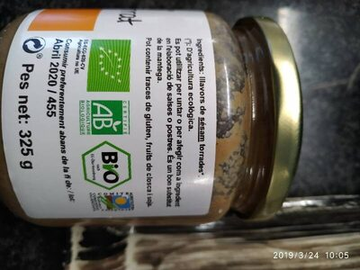 Tahin, pure bio de sesamo tostado - Ingredients