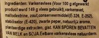 Fuet extra - Ingrediënten - nl