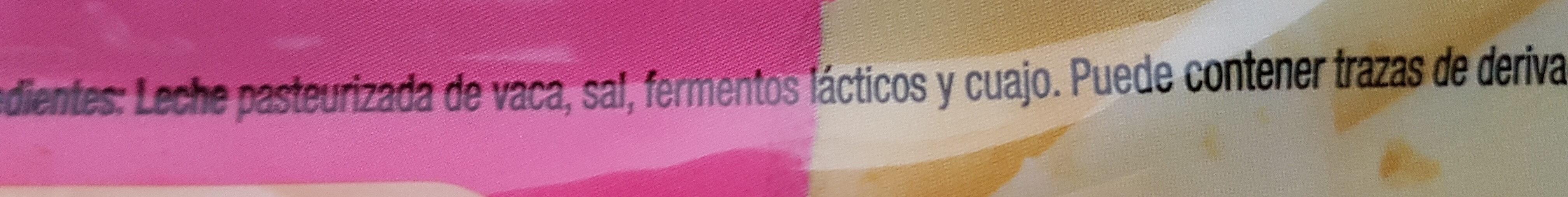 Queso en lonchas Havarti Light - Ingredients