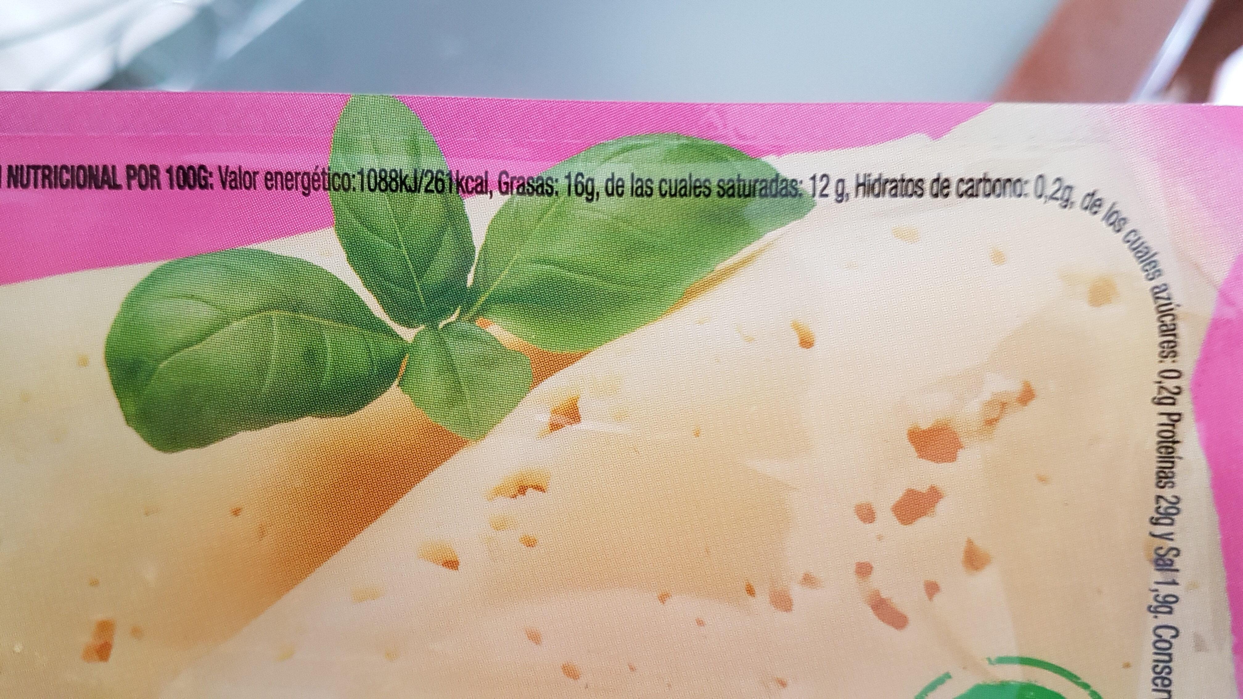 Queso en lonchas Havarti Light - Nutrition facts