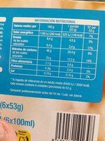 Sandwich de nata - Informations nutritionnelles - es