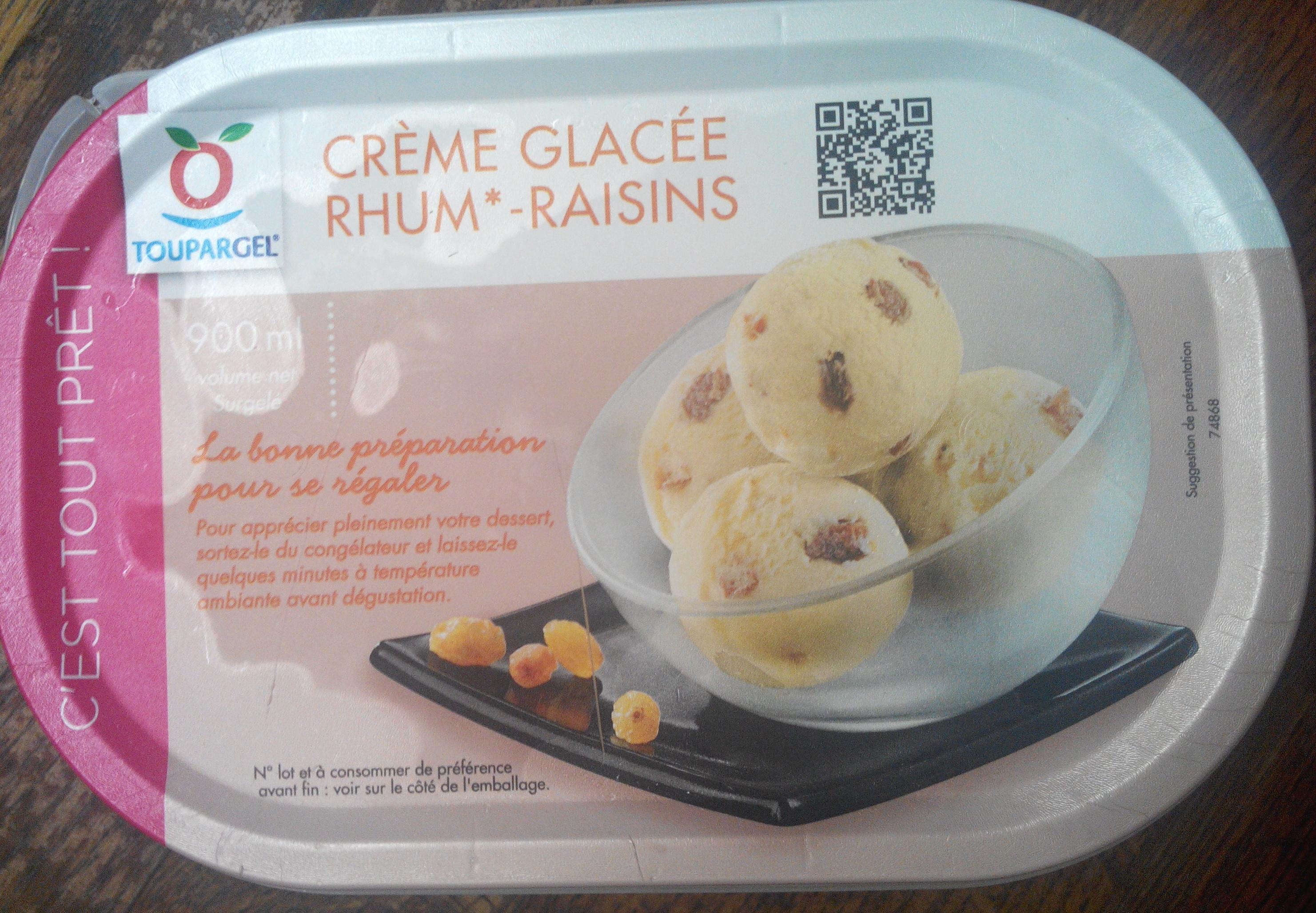 Crème glacée rhum-raisins - Produit