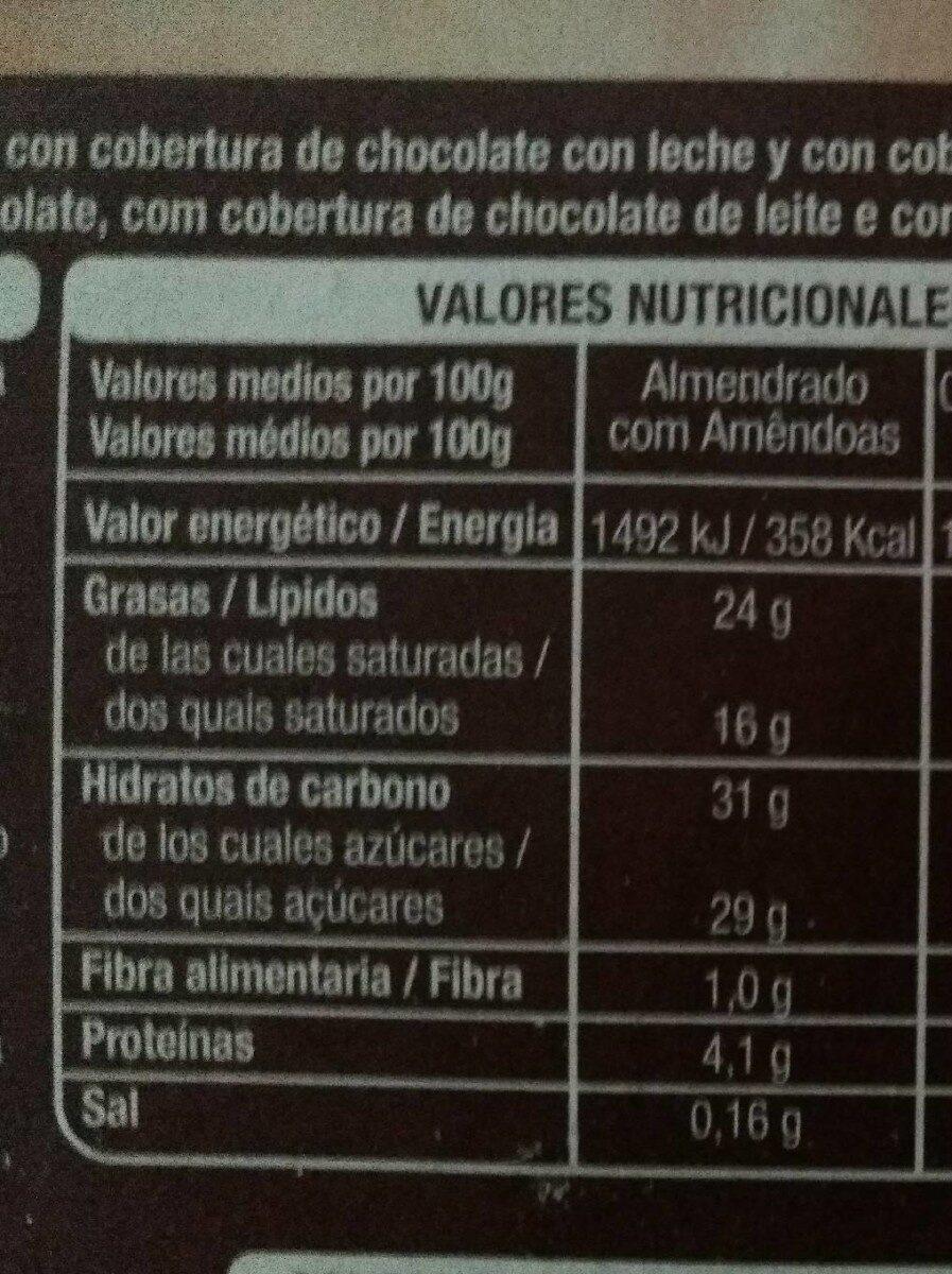 Mini bombones surtidos - Información nutricional - es