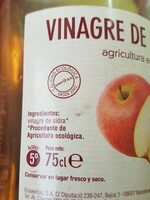 Vinagre de Manzana - Informations nutritionnelles - es
