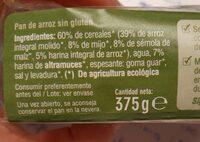 Pan de arroz - Información nutricional - es