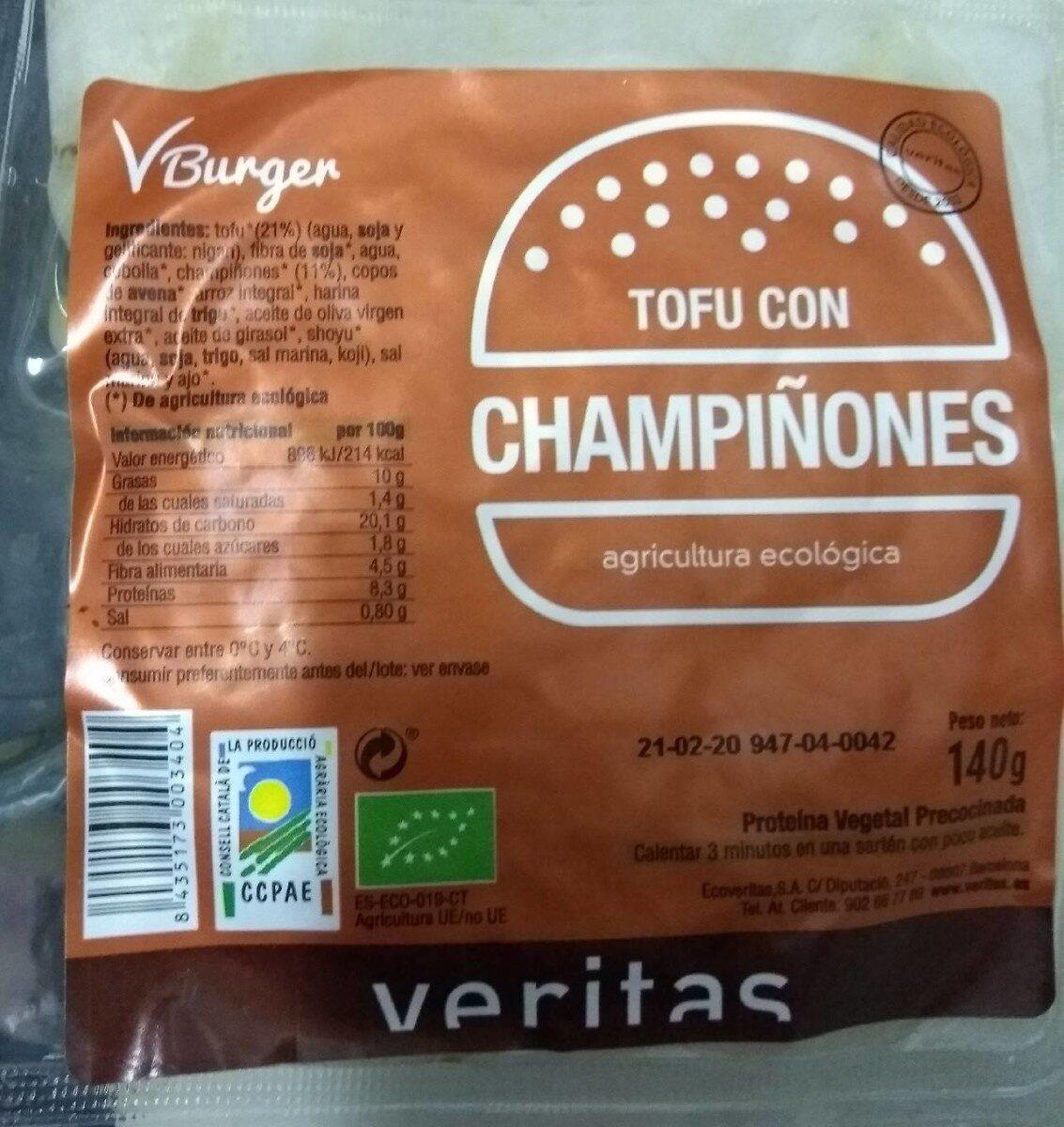 VBurger Tofu con champiñones - Producto
