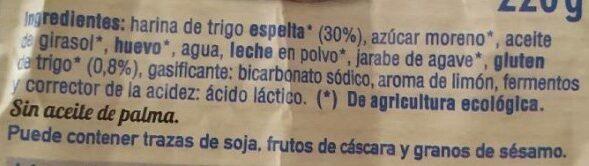 Magdalenas de espelta - Ingredientes - es