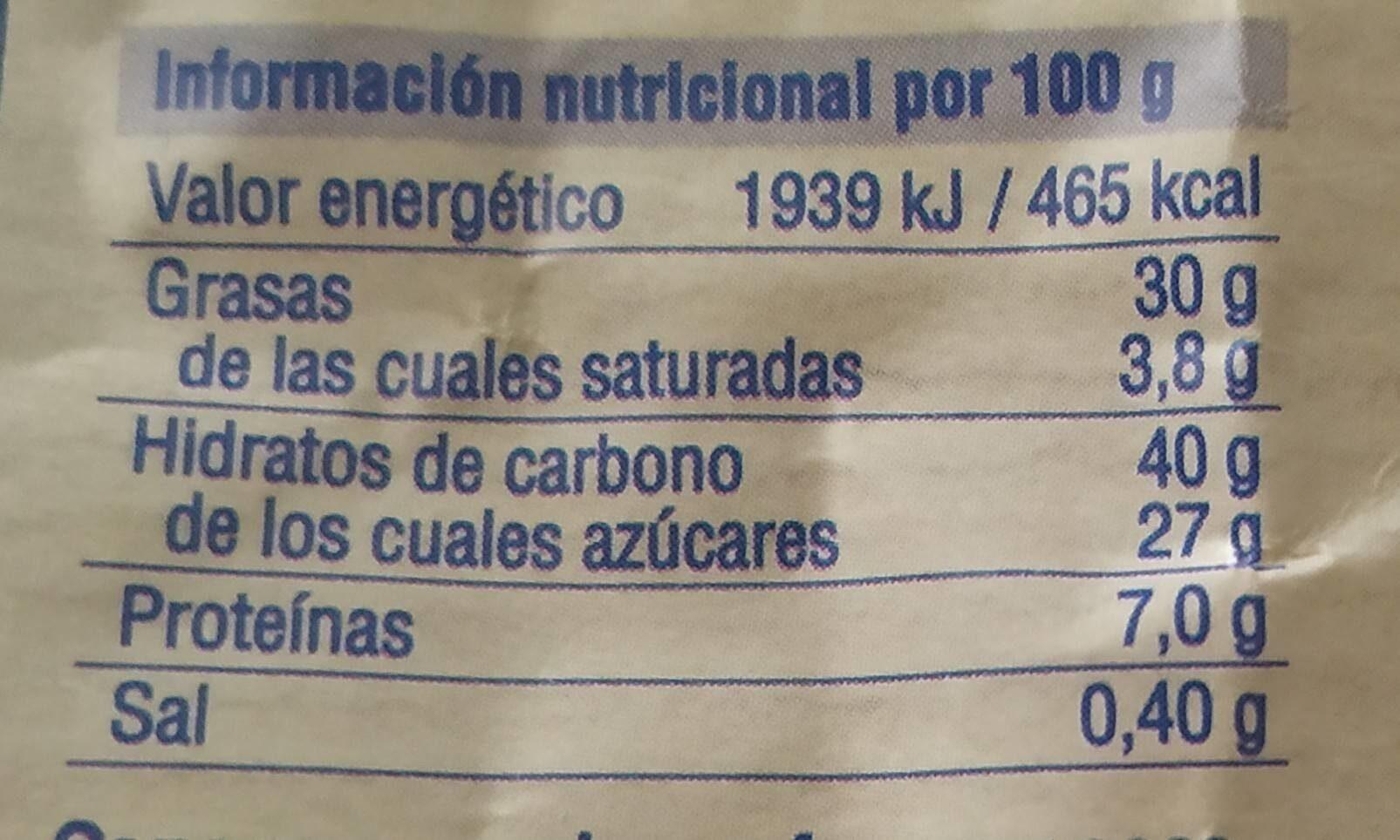 Magdalenas de espelta - Información nutricional - es