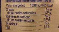 Croissants de espelta - Informació nutricional - en
