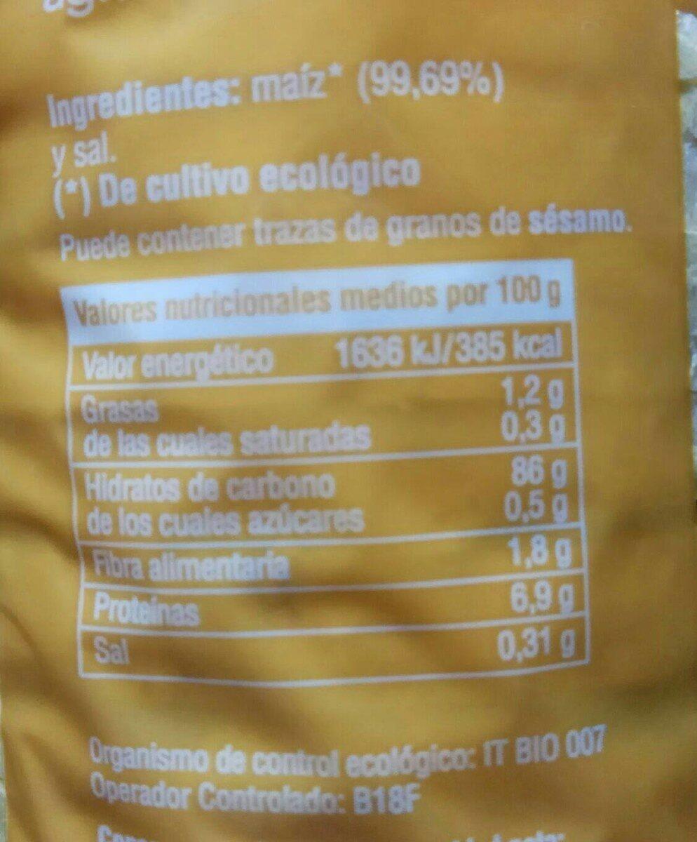 Tortitas de maiz - Voedigswaarden