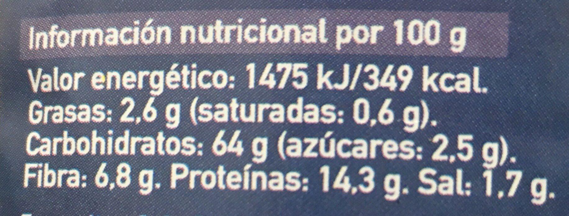 Cuscús Espelta - Voedingswaarden - es