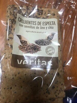 Crujientes de espelta con semillas de lino y chia - Produit