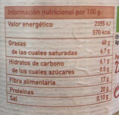 Tahin Blanco - Informations nutritionnelles - es
