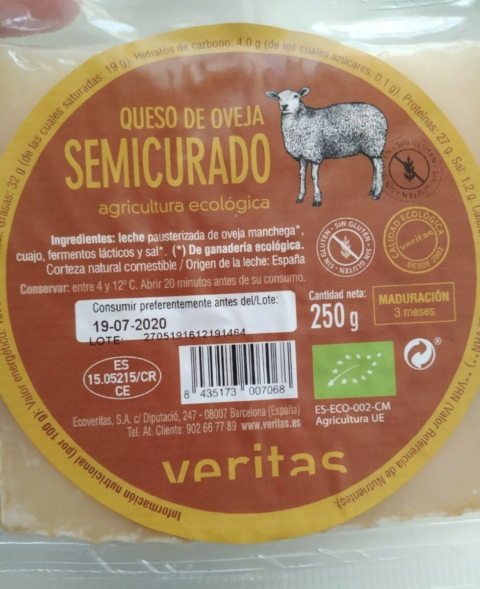 Queso de oveja semicurado - Producte - es