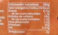 Copos finos de Avena - Informations nutritionnelles - es