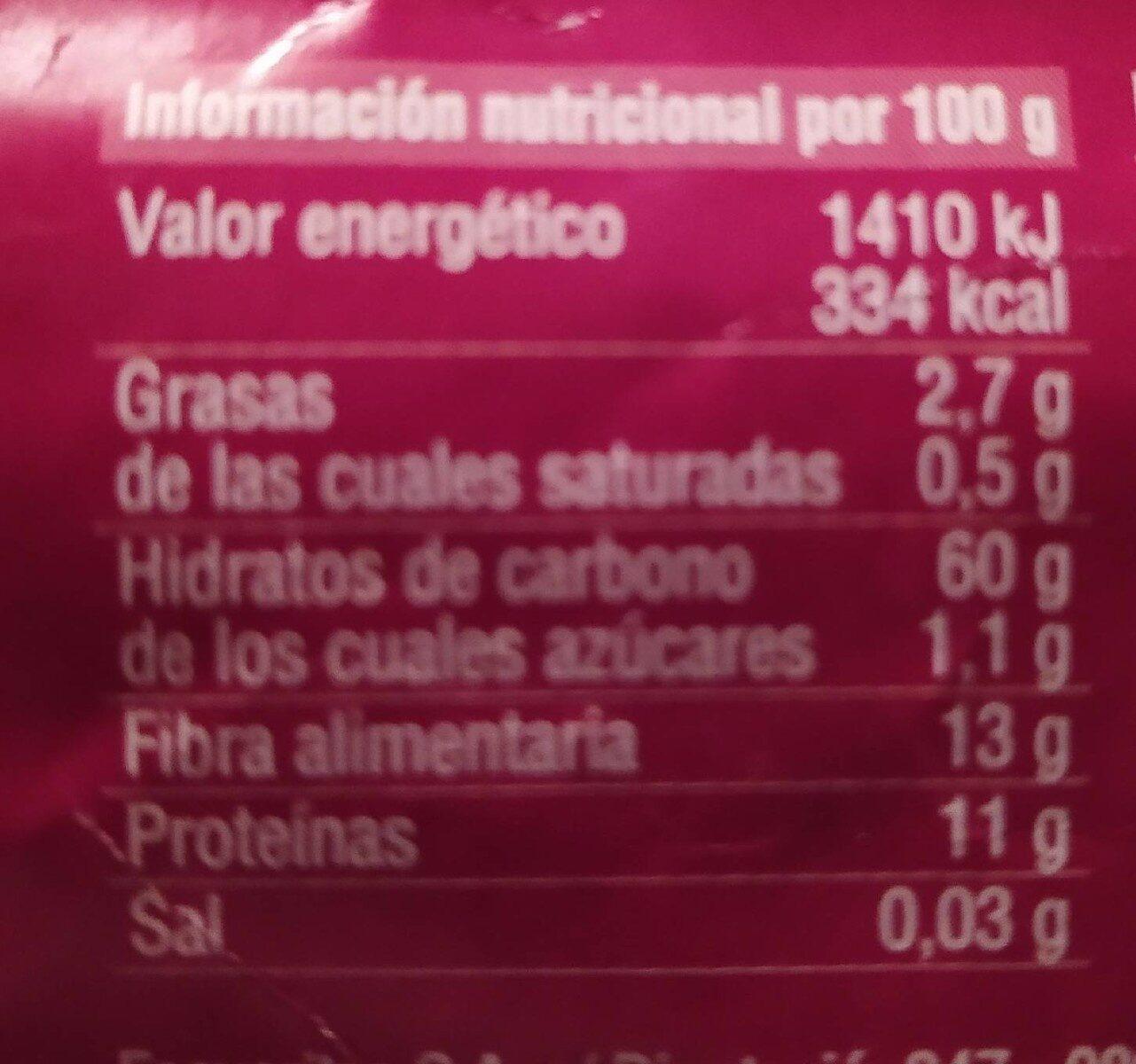 Copos 4 Cereales - Informations nutritionnelles - es