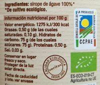 Sirope De agave Eco - Ingredientes