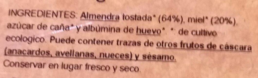 Turrón blando eco - Ingredients