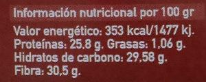 Lenteja roja - Información nutricional