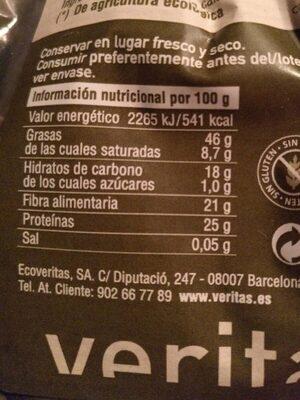 Semillas de calabaza - Información nutricional