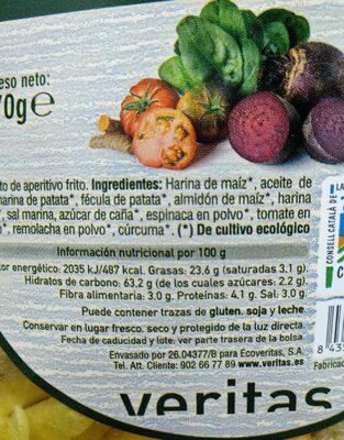 Varitas de verduras - Información nutricional