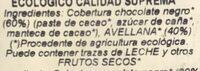 Turron ecologico - Ingredientes