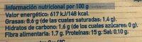 Tofu - Informació nutricional
