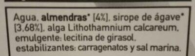 Bebida de almendra + calcio - Ingrédients - es