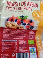 Muesli de avena con frutos rojos - Producto - es