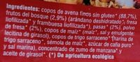 Muesli de avena con frutos rojos - Ingredientes - es