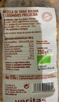 Mix Bulgur Legumbres - Información nutricional