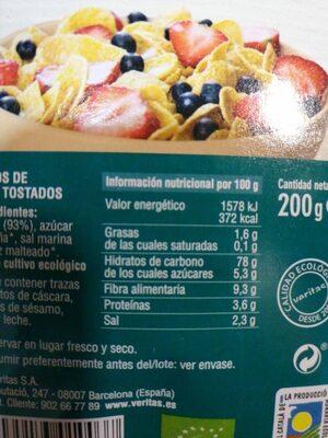 Corn flakes - Informació nutricional - es
