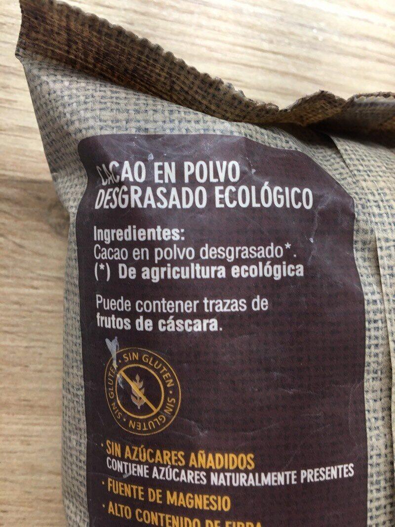 Cacao puro - Ingredientes - es