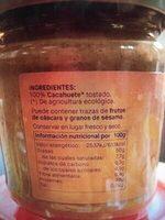 Crema de cacahuete - Ingrédients - es