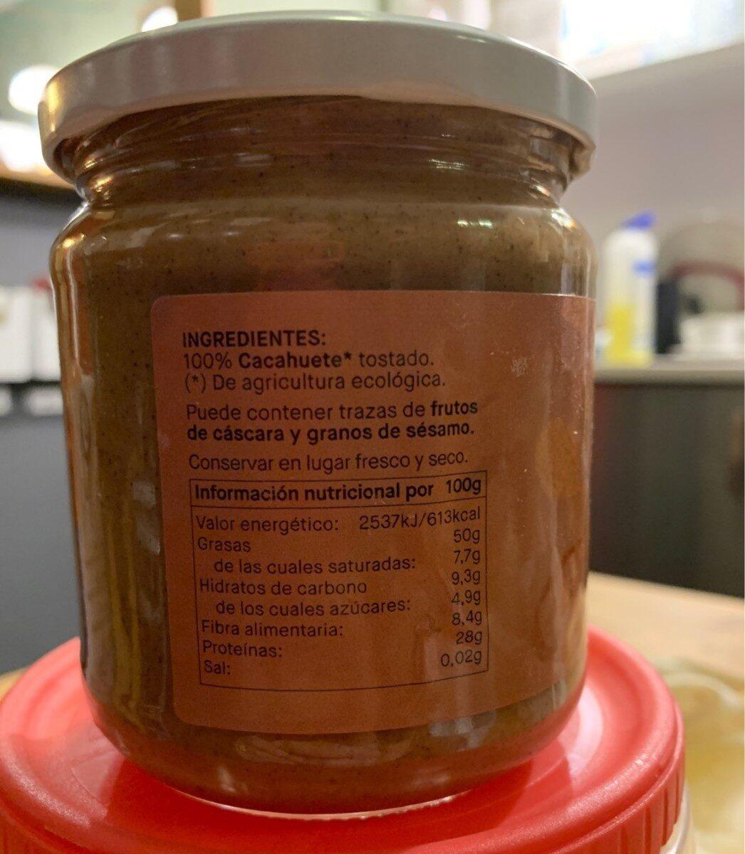 Crema de cacahuete - Informations nutritionnelles - es