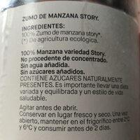 Zumo de manzana Story - Ingredients - es