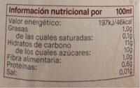 Zumo de manzana Story - Nutrition facts - es