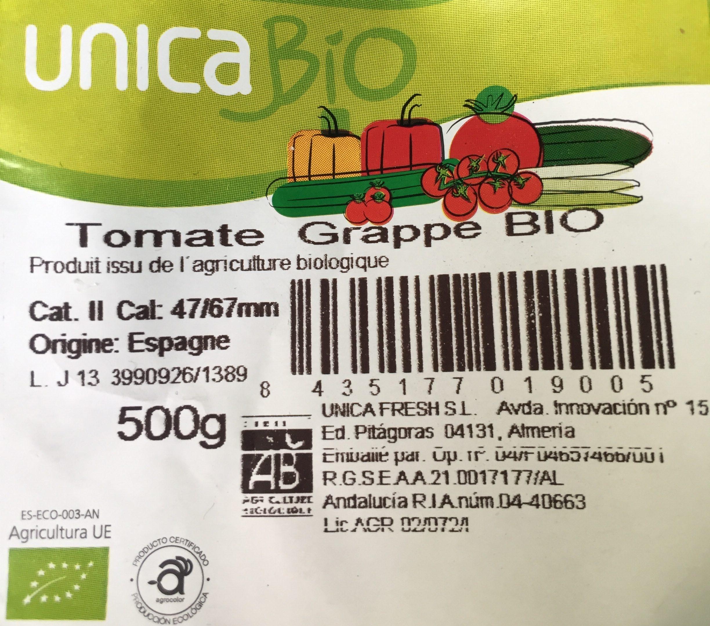 TOMATE Biologique : Tomate grappe cat... - Ingrédients - fr