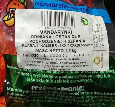 Mandarynki. odmiany: Ortanique. - Produit - pl
