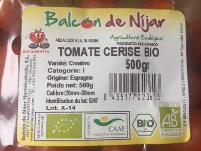 Tomate cerise bio - Ingredients