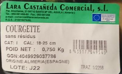 Courgette sans residus - Inhaltsstoffe