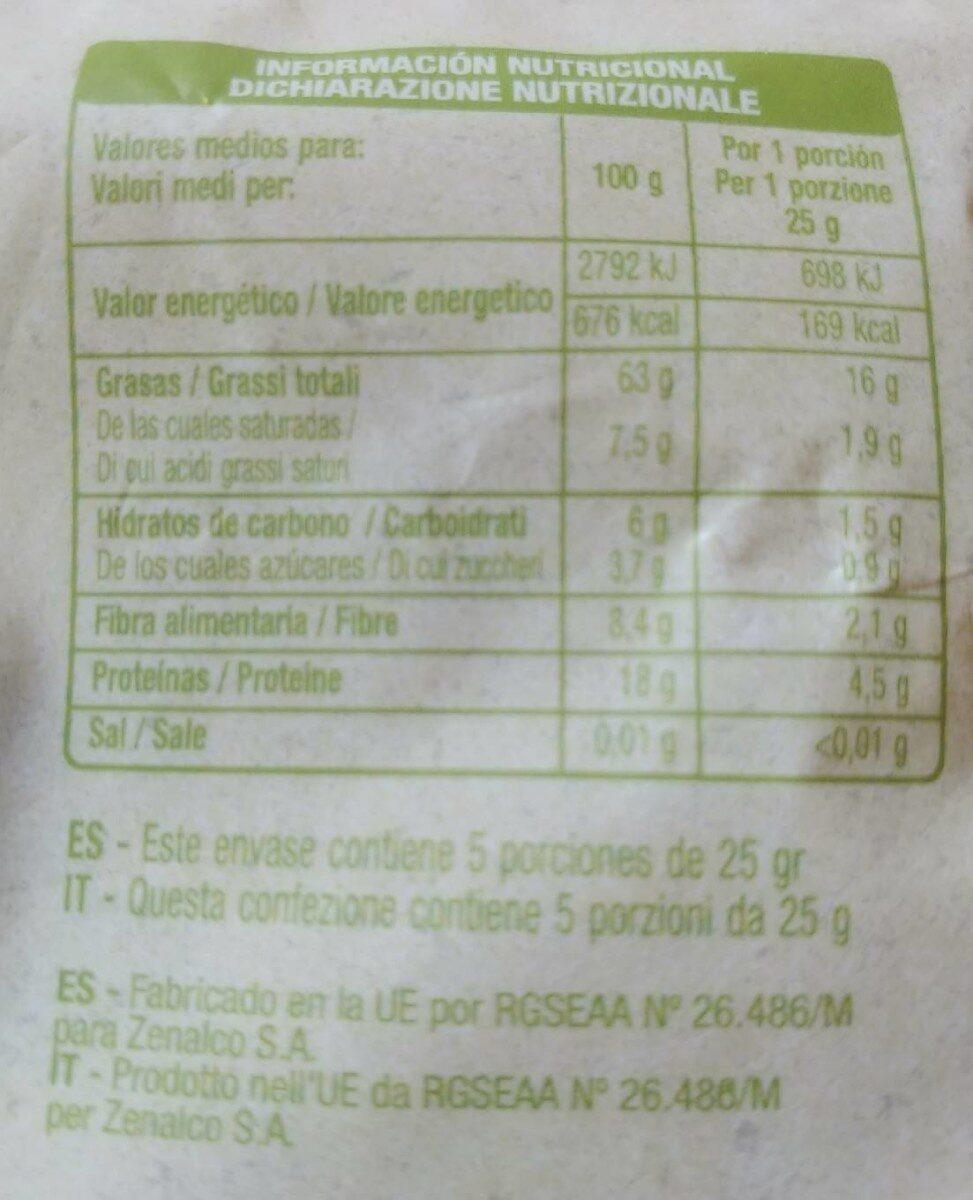 Avellanas crudas - Nutrition facts