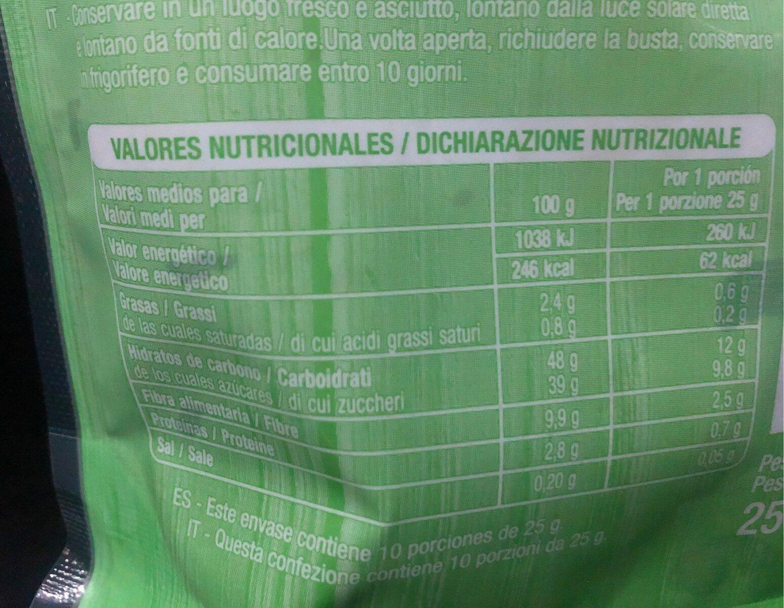 Higos secos tiernos - Nutrition facts - es