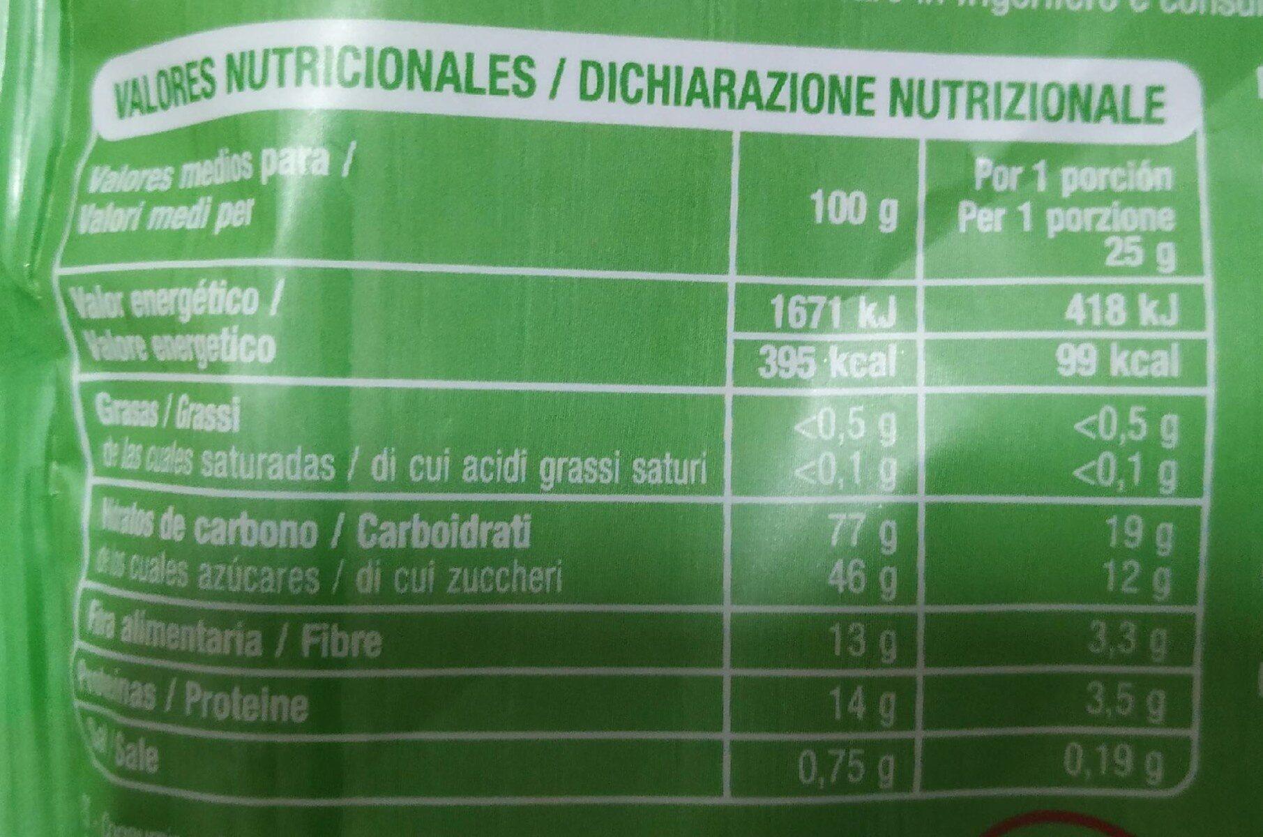 Bayas de goji - Informations nutritionnelles - es
