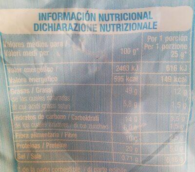 Pistachos - Información nutricional - es